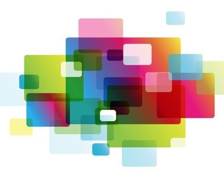 Abstract Colorful Rounded Rectangle Background Clipart Picture.
