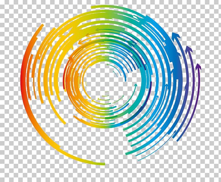 Circle Arrow , circular arrows, round blue and multicolored.