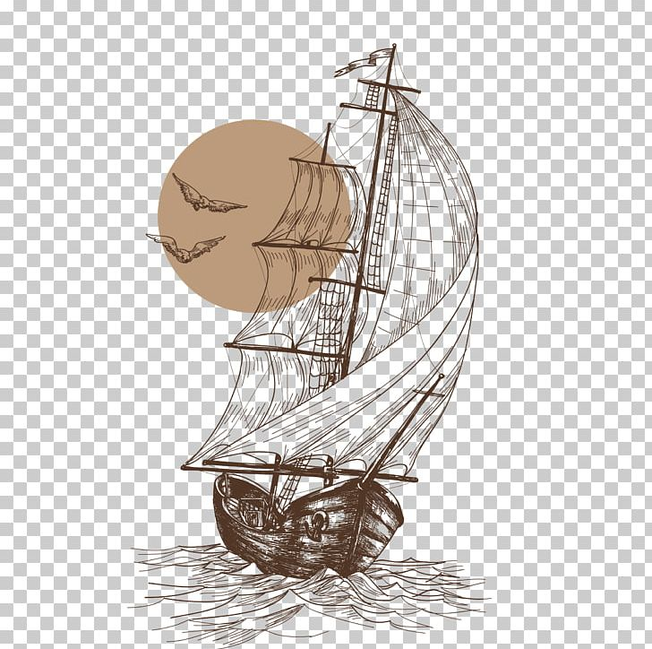 Gulls Sailboat Sailing Ship PNG, Clipart, Abstract Lines.