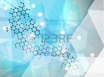 science: Abstract molecules wallpaper, medical background.