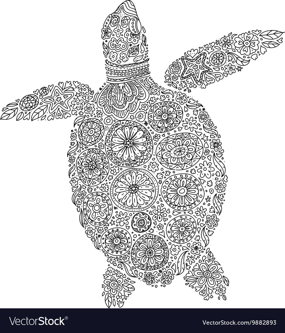 Abstract sea turtle.
