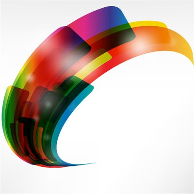 Creative Warped Abstract Colorful Shapes Clipart Picture.