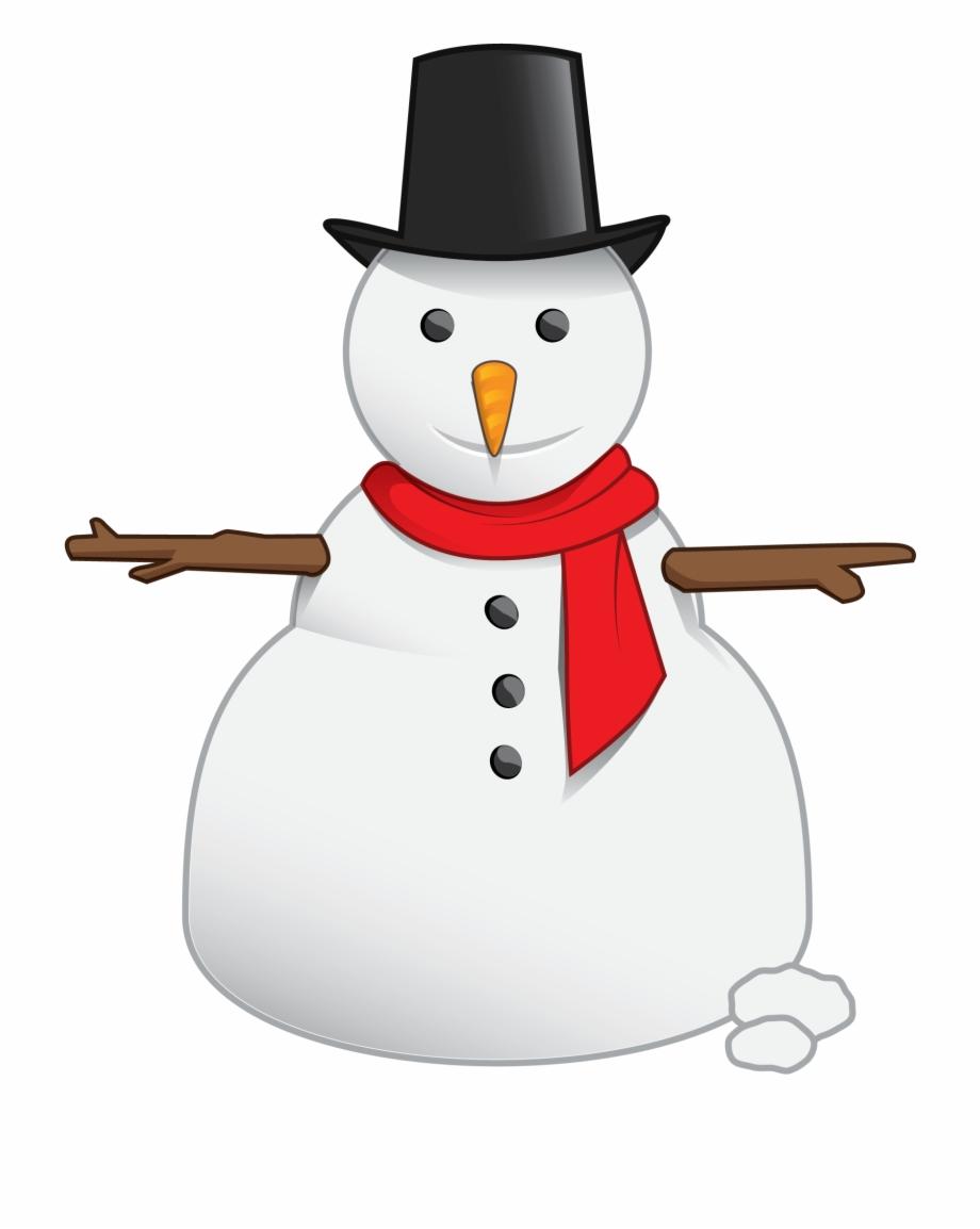 Free Cute Snowman Clip Art.