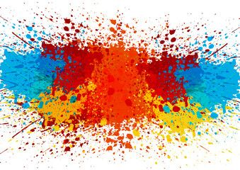 abstract splatter color background. illustration vector.