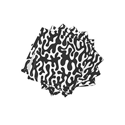 Amazon.com: Black And White Squiggles Organic Cotton Sateen.