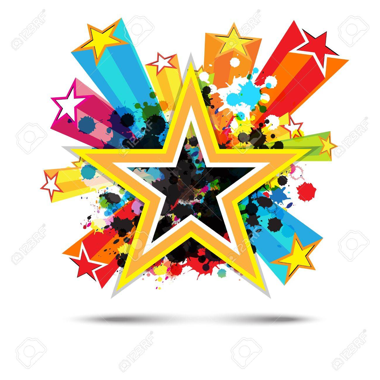 abstract celebration star background design.