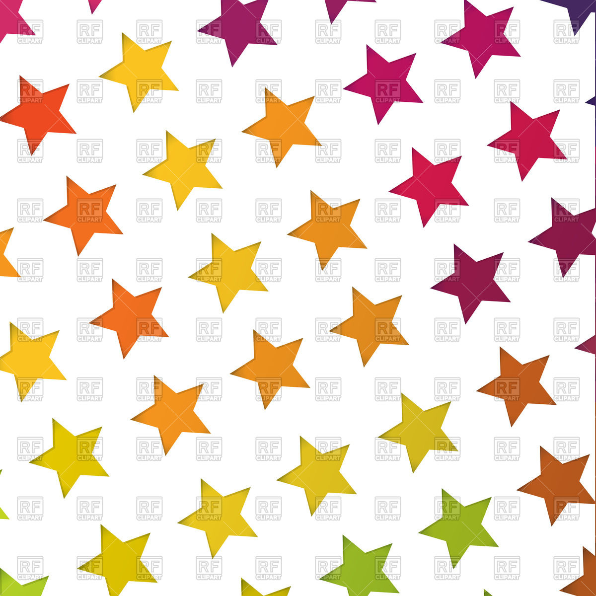 Abstract background with colorful stars Stock Vector Image.