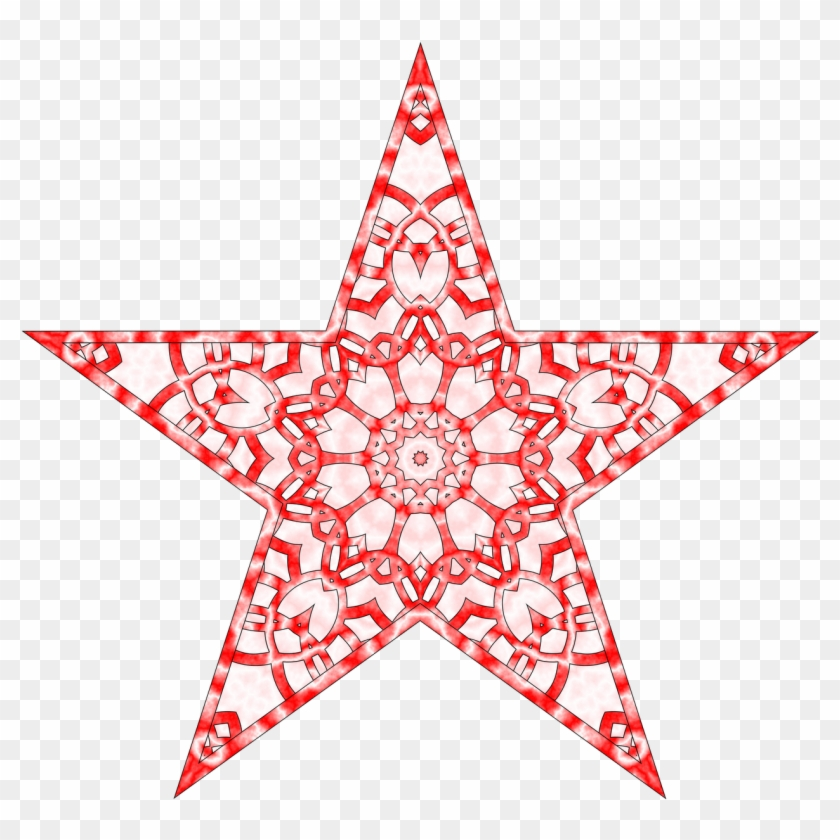 28 Collection Of Abstract Christmas Star Clipart.