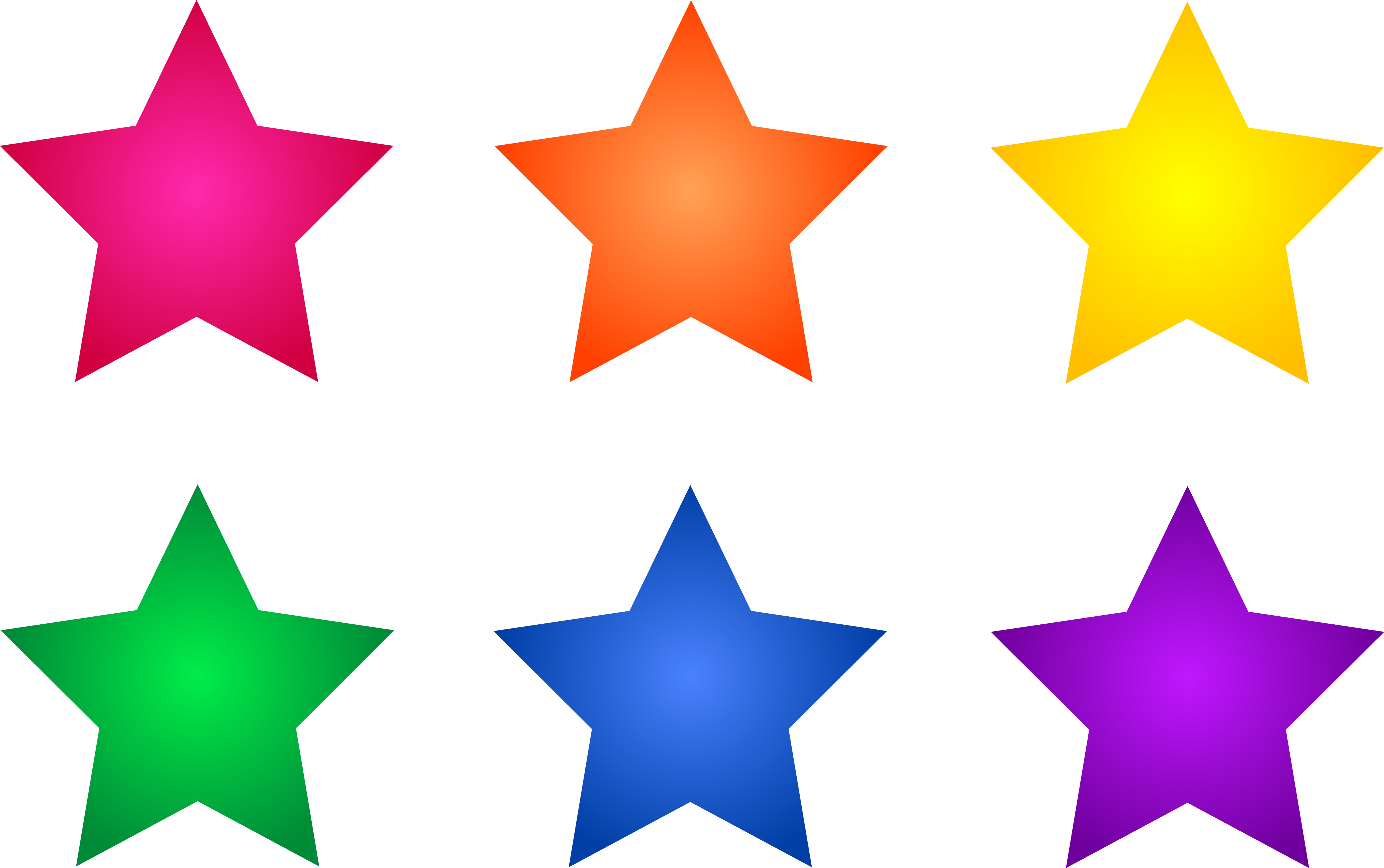 Clipart Abstract Colored Stars free image.