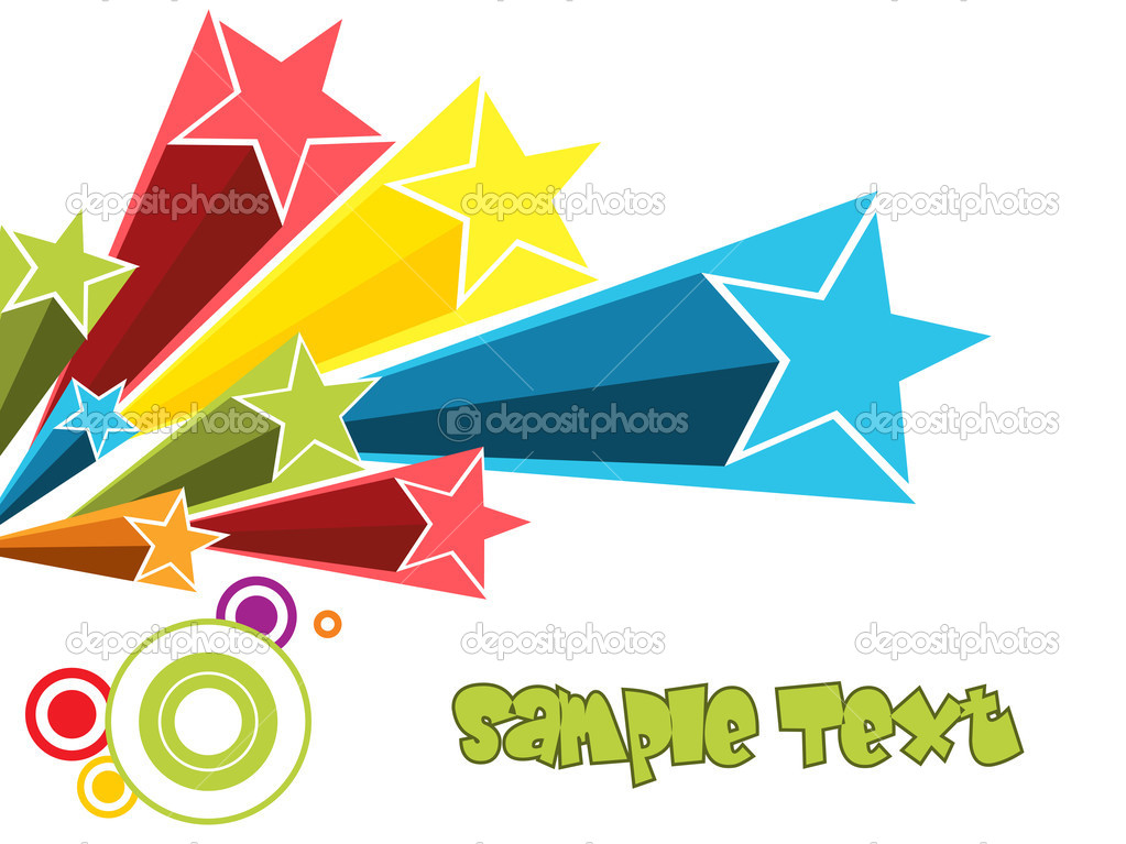 Colorful stars with abstract.