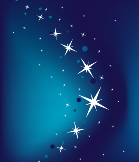 Abstract Blue Vector Background with Stars Clipart Picture.
