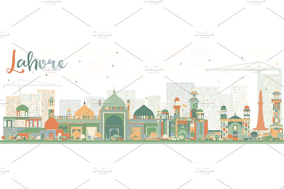 Abstract Lahore Skyline.