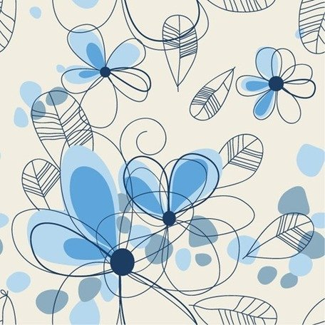 Abstract Summer Floral Background Clipart Picture.