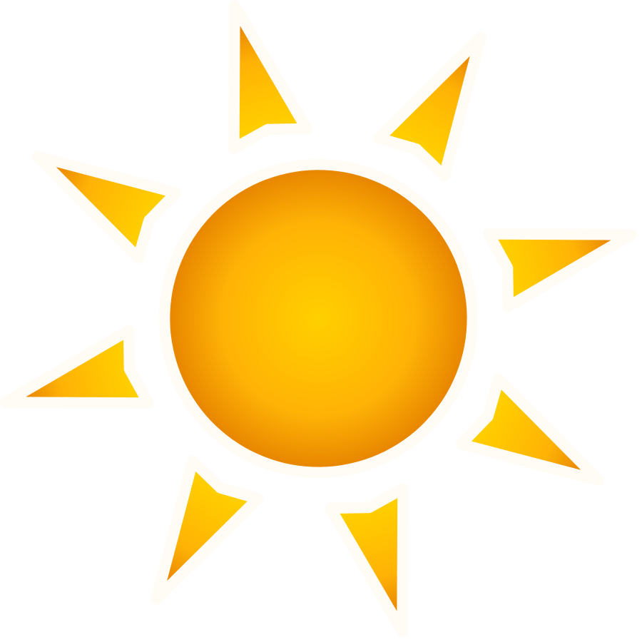 Abstract sun clipart.