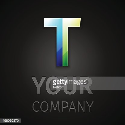 abstract vector logo letter T Clipart Image.