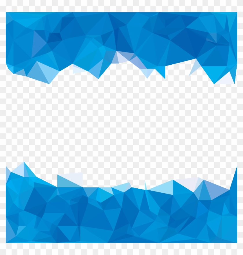 Blue Abstraction Polygon Abstract Sky Polygons Clipart.