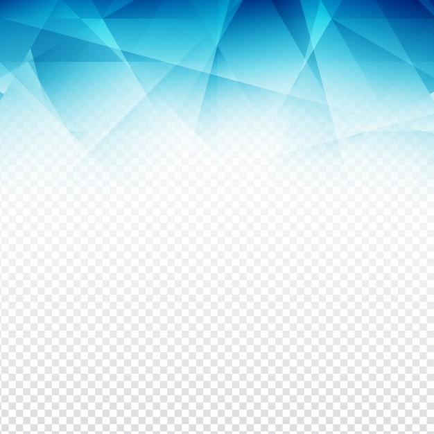 Blue polygonal abstract shapes with a transparent background Vector.