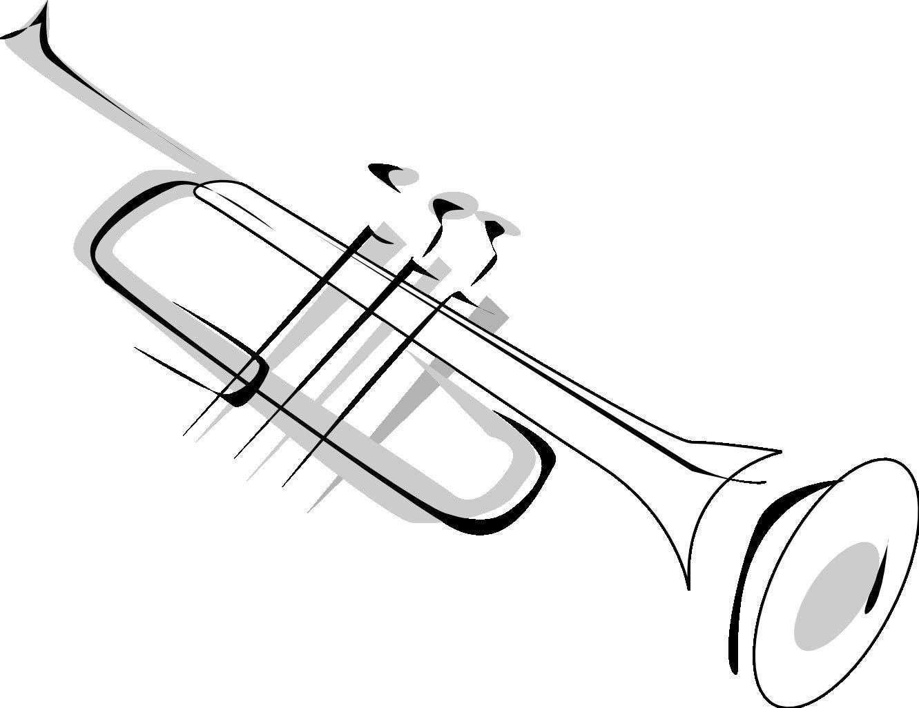 Simple Trumpet Tattoo Design Tattoos Pinterest In Clipart.