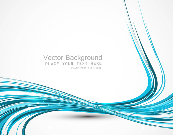 Abstract colorfull blue line wave vector design Free vector in.