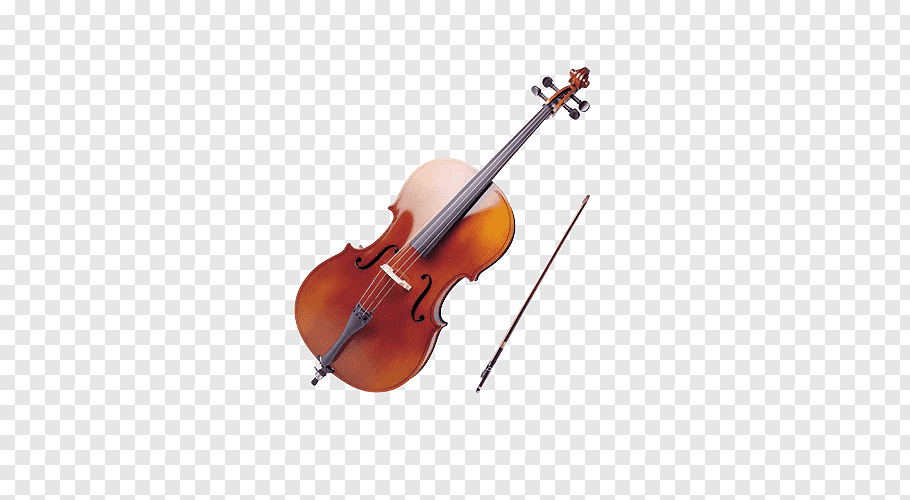 Brown violin with bow, Violin Musical instrument Cello.