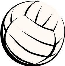 Half volleyball clipart.