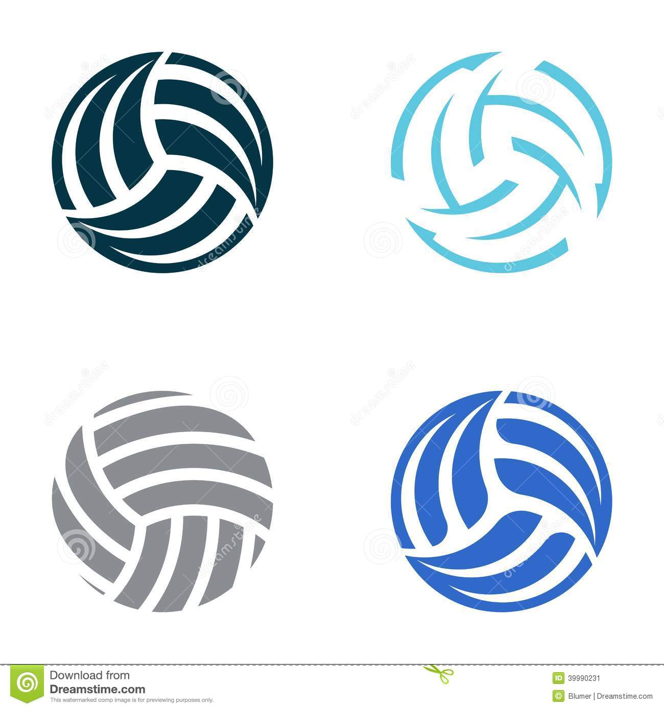 Abstract Volleyball Clipart.