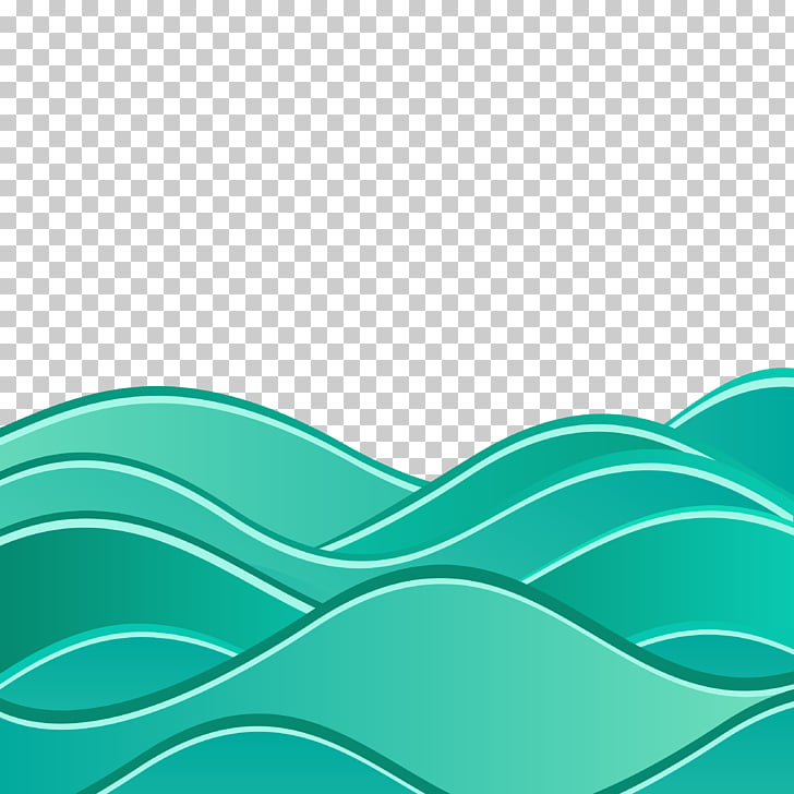 Wind wave Euclidean Wave Sea, Background with abstract waves.