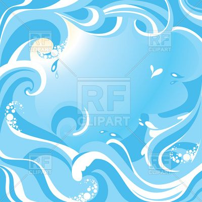 Abstract water background with sea waves Vector Image.