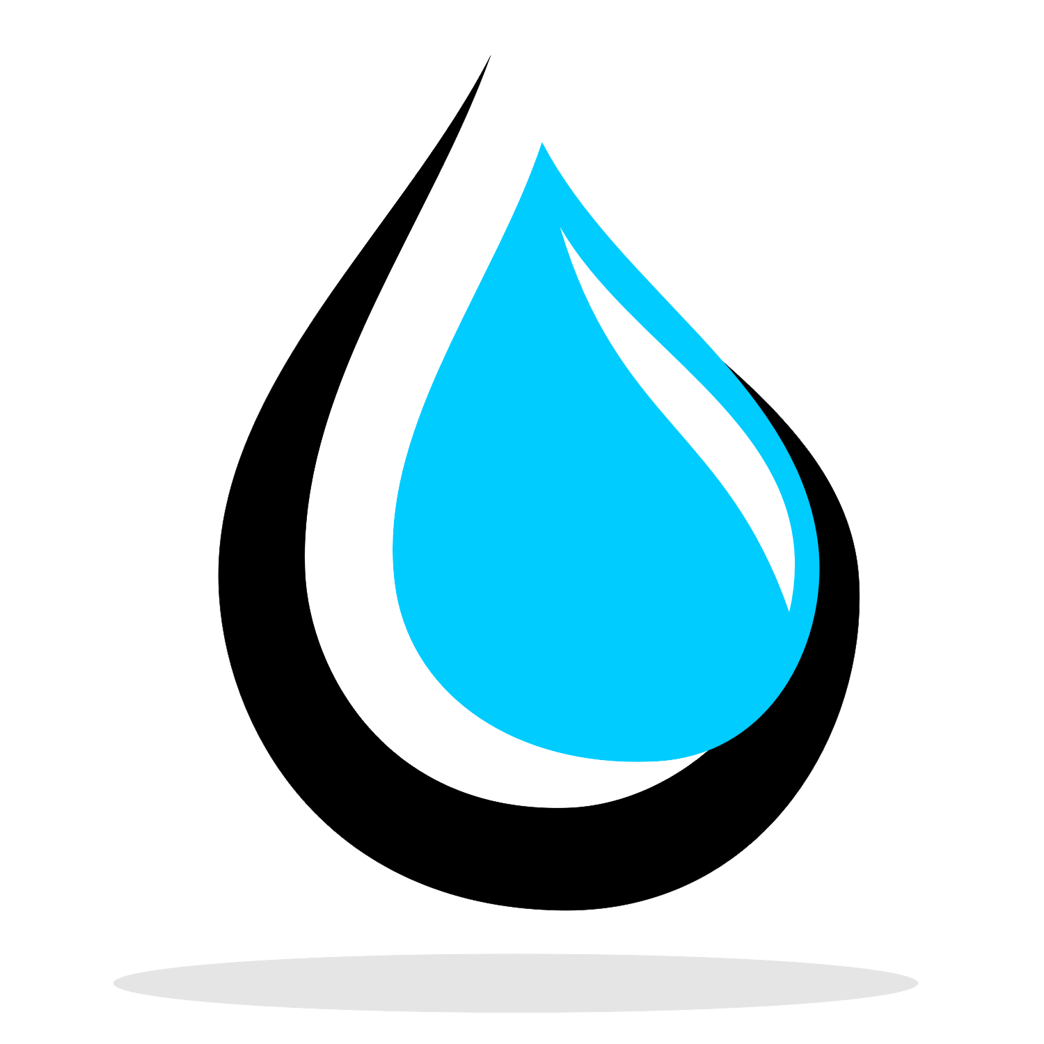 Vector for free use: Water drop logo.