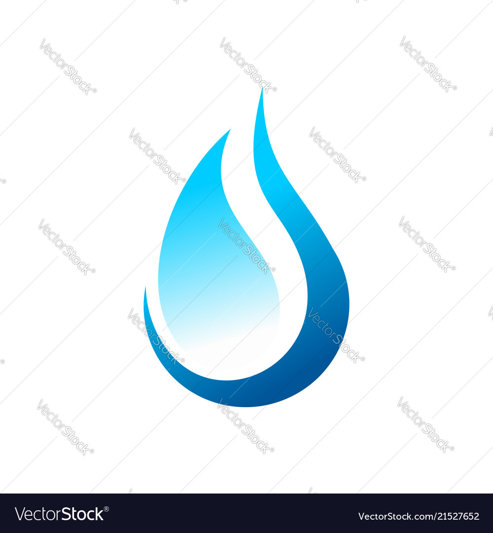Eco water drop abstract symbol logo design.