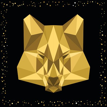 Abstract wolf. Clipart Image.