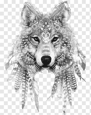 Wolf Tattoo cutout PNG & clipart images.