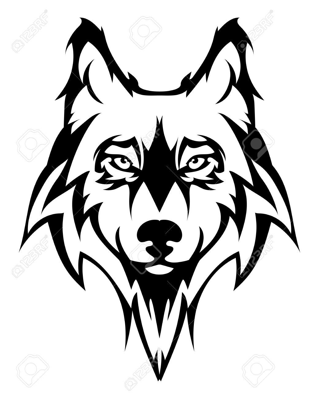 Wolf Head Silhouette Vector at GetDrawings.com.