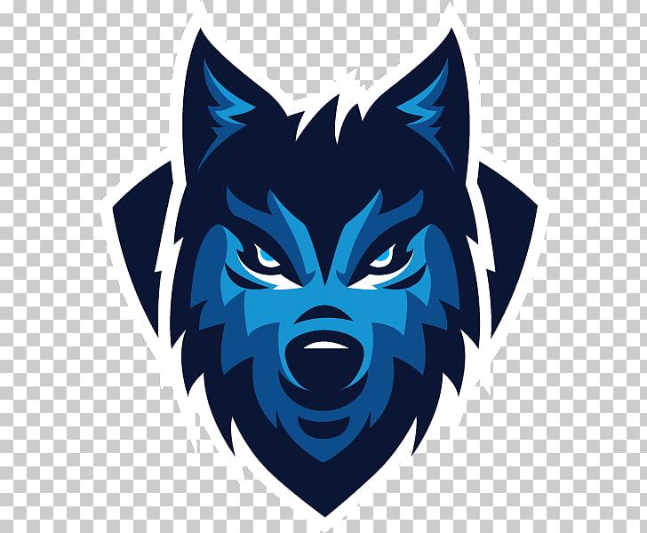 Gray wolf Sports team Logo, others, blue wolf logo.