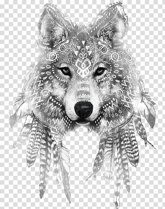 Gray wolf Tattoo ink Drawing Sleeve tattoo, Wolf, gren wolf.