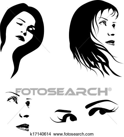Woman Face Clipart.