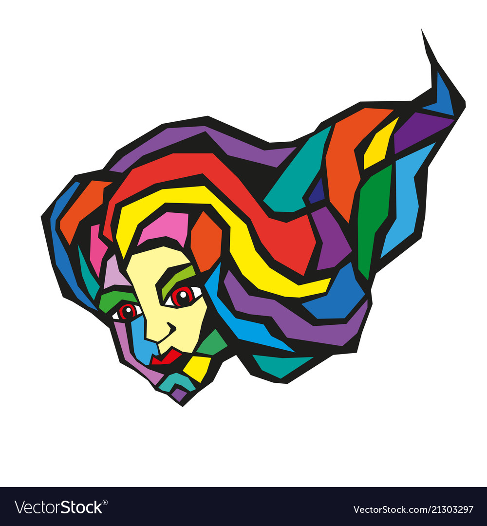 Abstract background with woman s face silhouette.