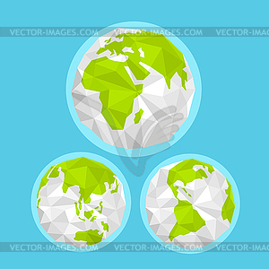 Earth with abstract World map. Infographic template.