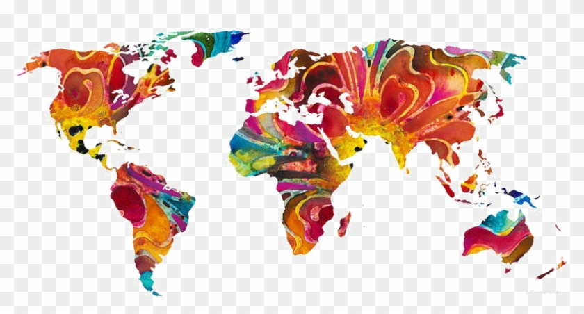 Abstract World Map Png Pic.
