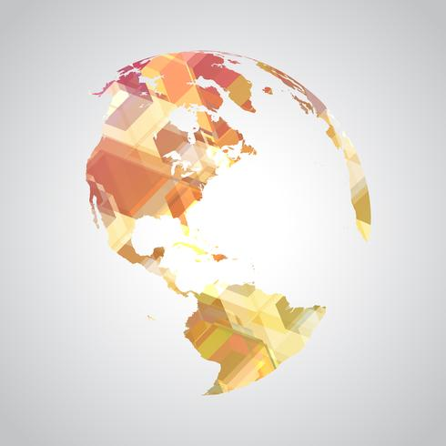Colorful abstract world symbol.