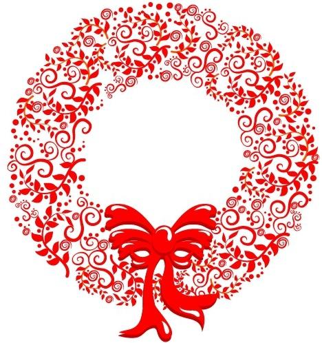 Abstract Christmas Wreath Clipart.