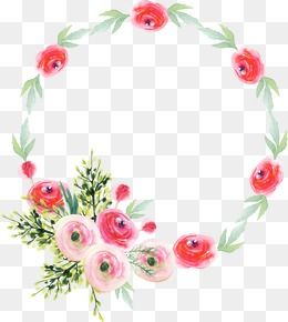Watercolor Wreath, Watercolor Clipart, Hand Painted.