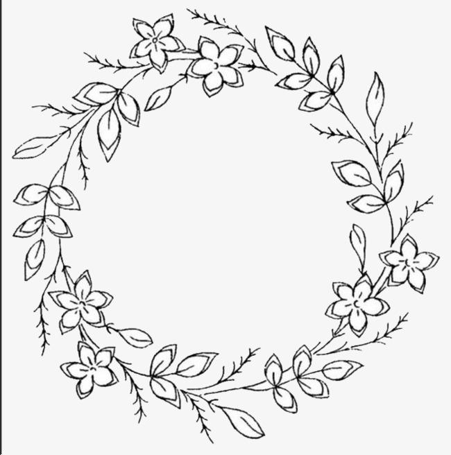 Simple Wreath Clipart.