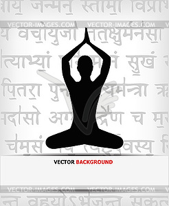 Abstract yoga background.