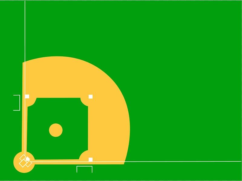 Baseball field Baseball park , Cartoon Diamond transparent.