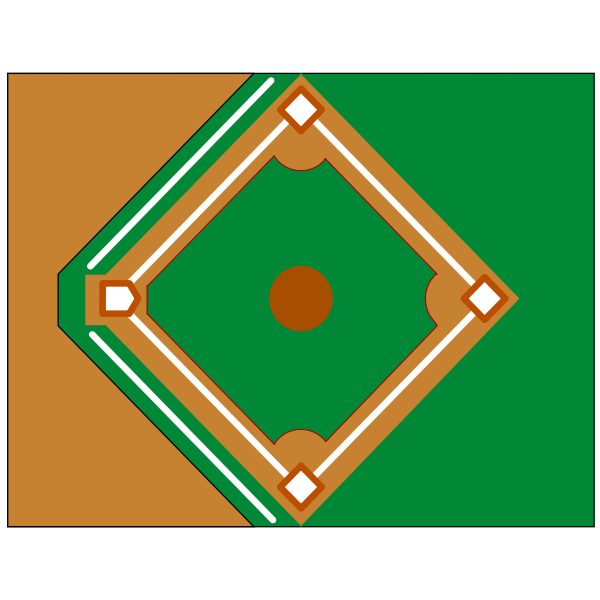 Baseball diamond.
