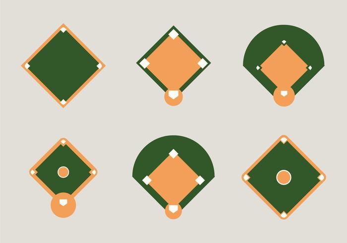 Free Baseball Diamond Vector Illustration.
