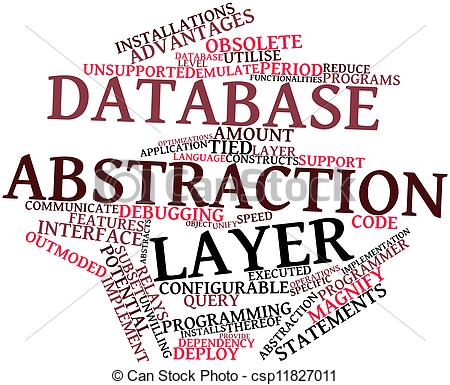 Clipart of Database abstraction layer.