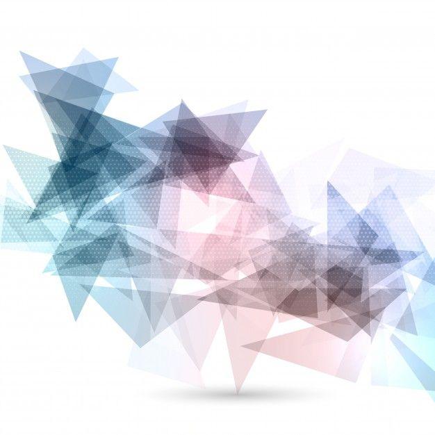 Fondo abstracto con diseño poligonal Vector Gratis.