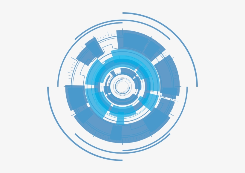 Circulo Azul Abstracto Png Transparent PNG.